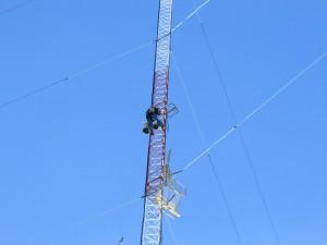 2015-02-10 Climber Installing Antenna